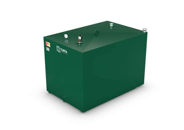2300  Litre Steel Bunded Oil Tank - Fire Protected